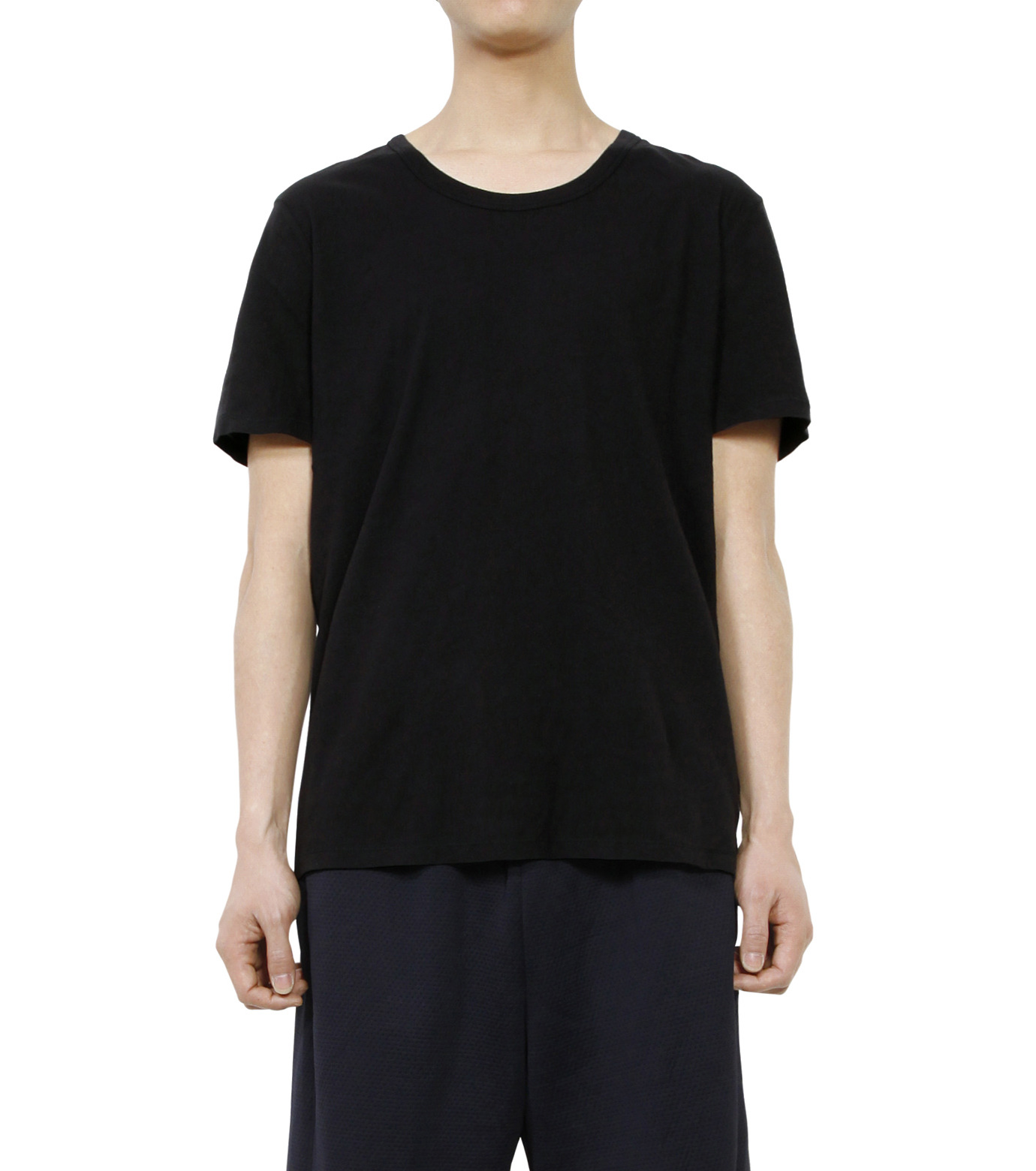 T by Alexander Wang(ティーバイ アレキサンダーワン)のBasic T-BLACK(カットソー/cut and sewn)-500201C-13 拡大詳細画像1