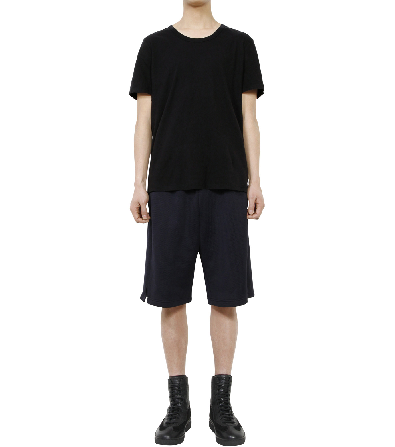 T by Alexander Wang(ティーバイ アレキサンダーワン)のBasic T-BLACK(カットソー/cut and sewn)-500201C-13 拡大詳細画像3