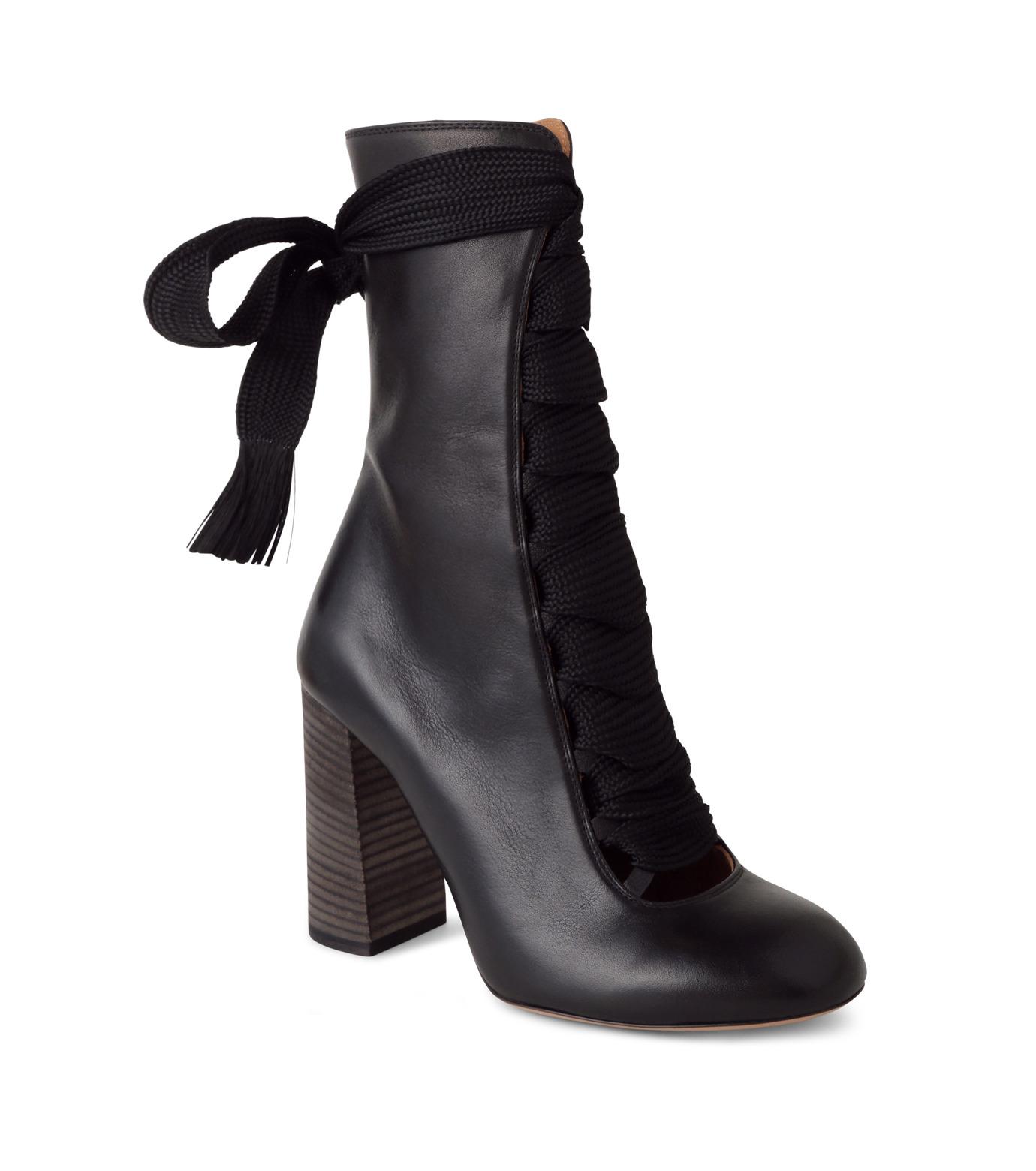 Chloe(クロエ)のharper lace up boots-BLACK(ブーツ/boots)-5534E42B-13 拡大詳細画像1