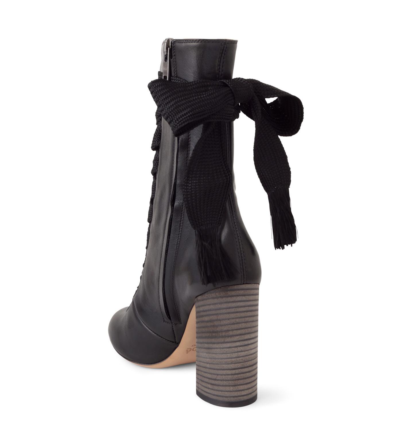 Chloe(クロエ)のharper lace up boots-BLACK(ブーツ/boots)-5534E42B-13 拡大詳細画像2