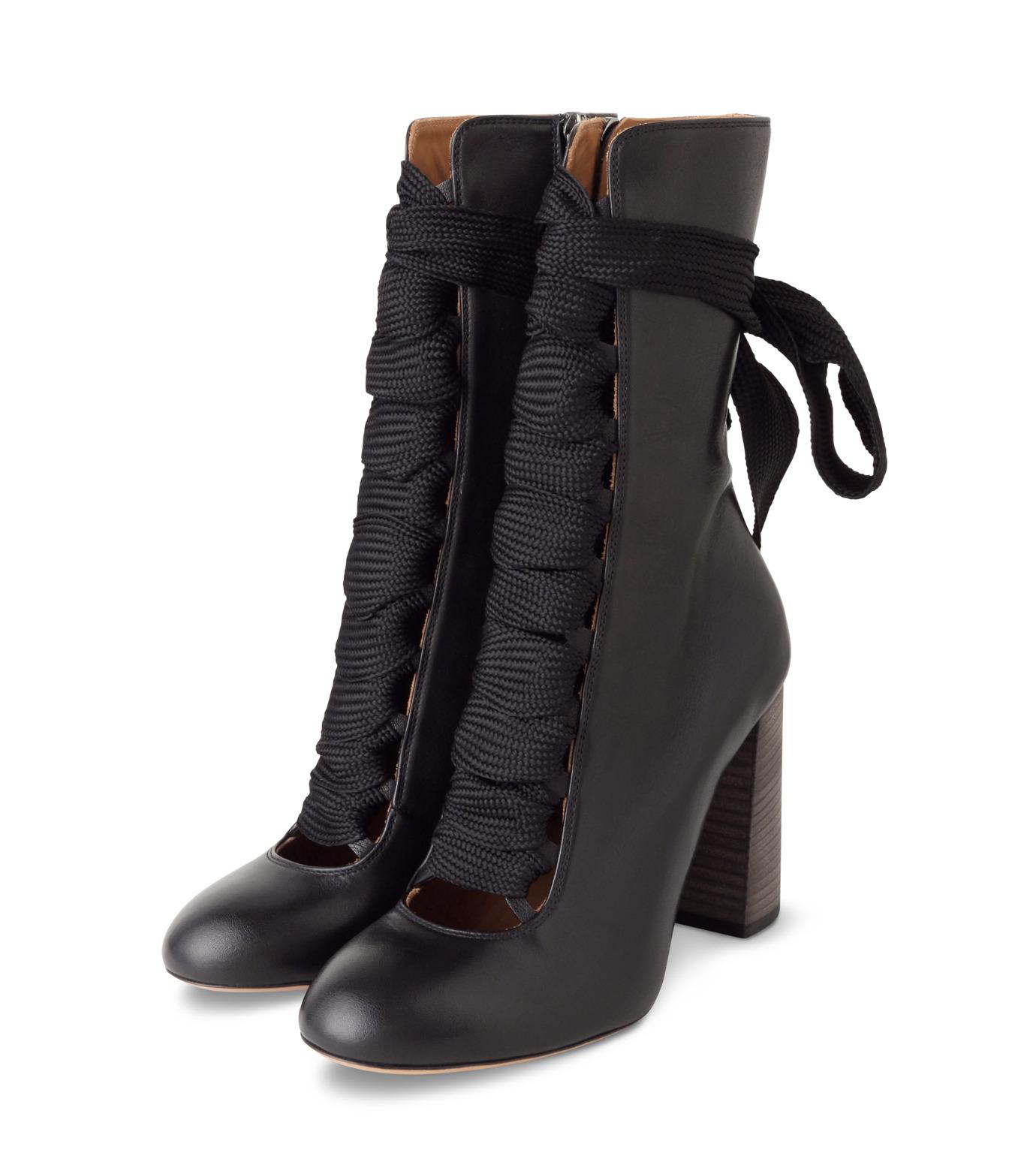 Chloe(クロエ)のharper lace up boots-BLACK(ブーツ/boots)-5534E42B-13 拡大詳細画像3