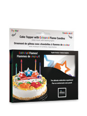 Gloco Accents() Musical Cake Topper w/color candles