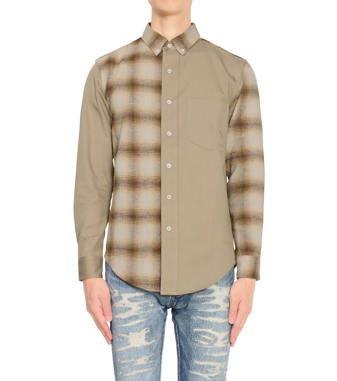 PALM ANGELS(パーム・エンジェルス)のPATCHWORK SHIRT-GREEN(シャツ/shirt)-6093055-22 拡大詳細画像1