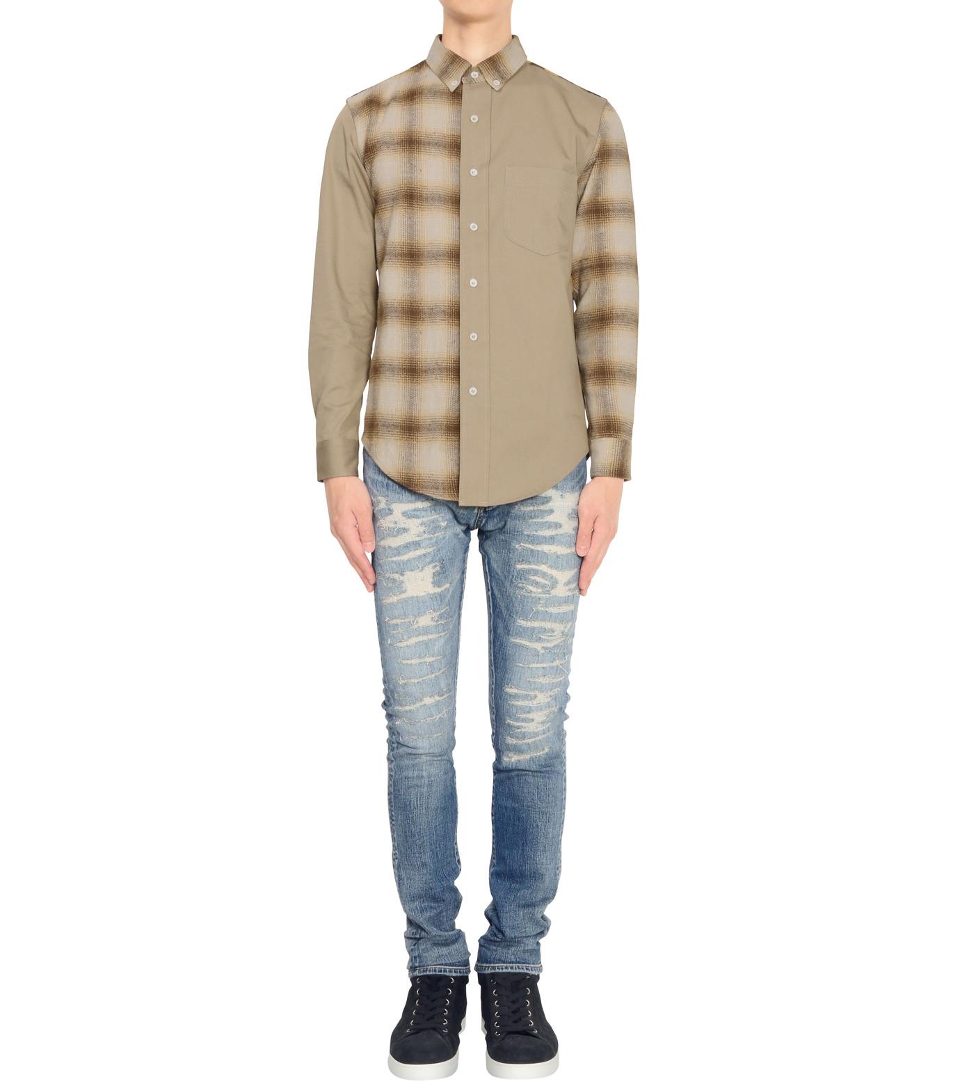 PALM ANGELS(パーム・エンジェルス)のPATCHWORK SHIRT-GREEN(シャツ/shirt)-6093055-22 拡大詳細画像3