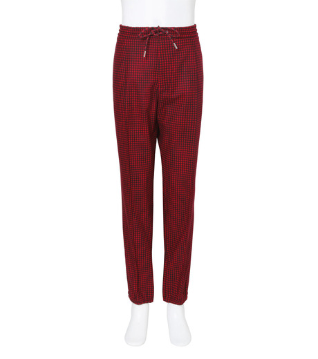 Dior Homme(ディオール オム)のGingam Check Easy Pants-RED-633C165E3748-62 詳細画像1