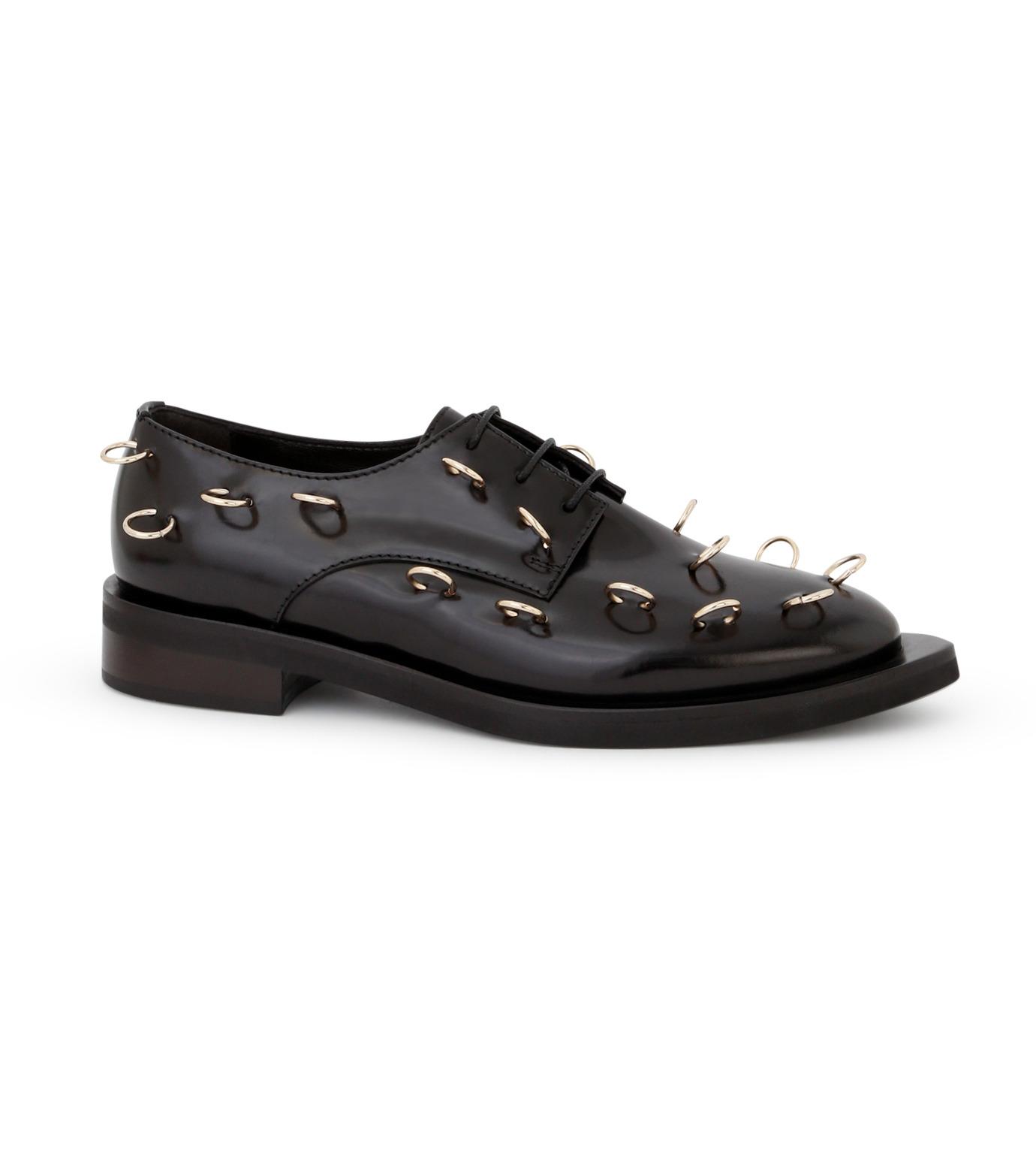 Coliac(コリアック)のRei Rings-BLACK(フラットシューズ/Flat shoes)-64CC023-13 拡大詳細画像1