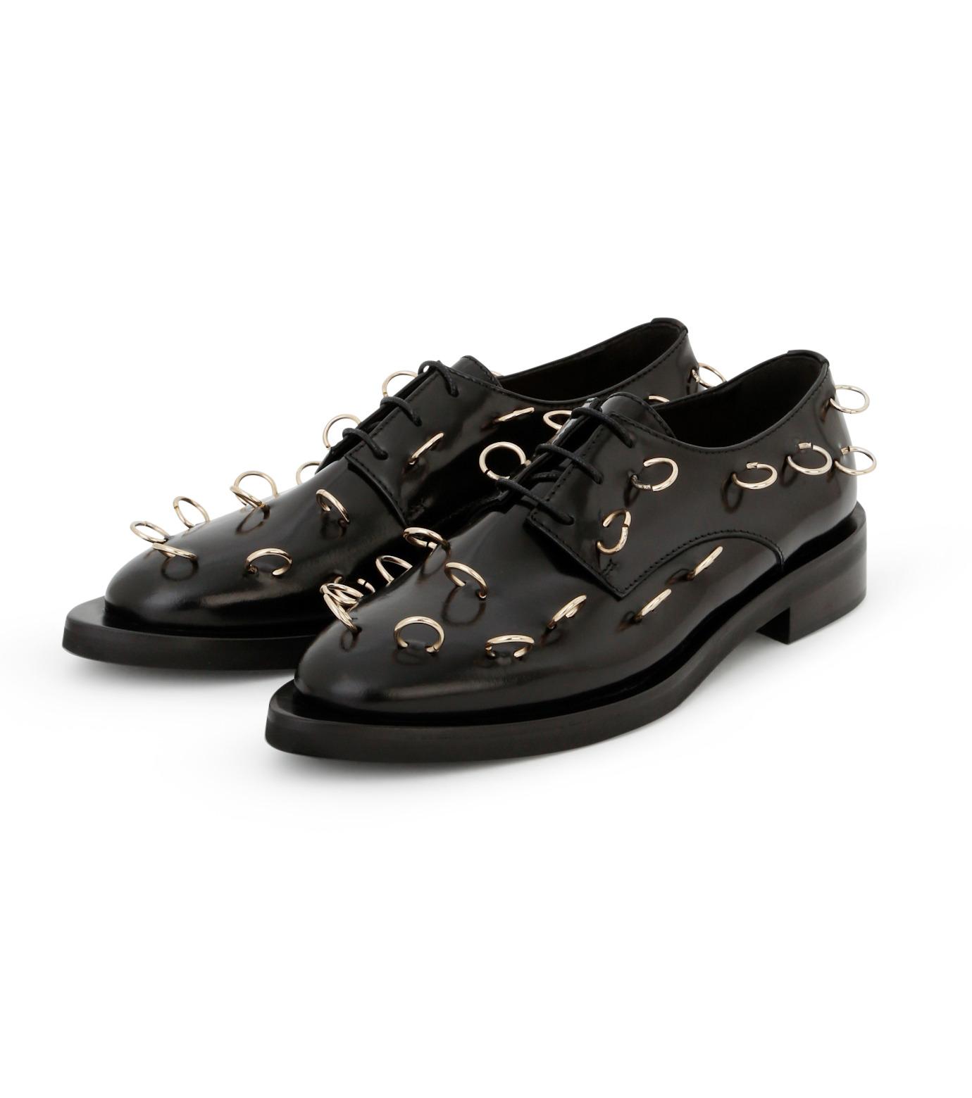 Coliac(コリアック)のRei Rings-BLACK(フラットシューズ/Flat shoes)-64CC023-13 拡大詳細画像2