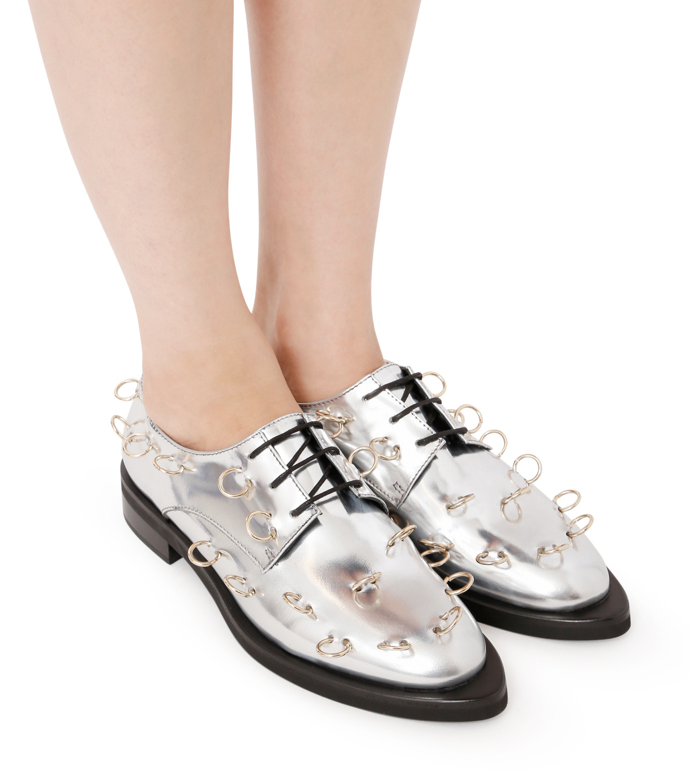 Coliac(コリアック)のRei Rings-SILVER(フラットシューズ/Flat shoes)-64CC124-1 拡大詳細画像5