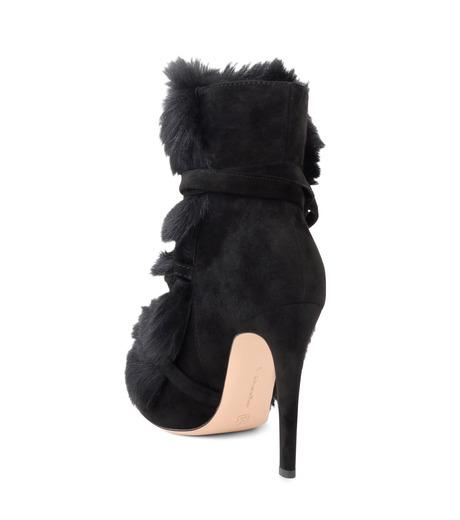 Gianvito Rossi(ジャンヴィト ロッシ)のShort Boots w/Goat Fur-BLACK(ブーツ/boots)-70469-13 詳細画像2