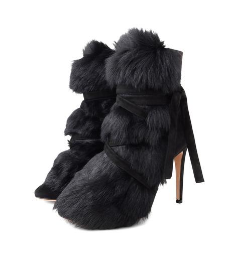 Gianvito Rossi(ジャンヴィト ロッシ)のShort Boots w/Goat Fur-BLACK(ブーツ/boots)-70469-13 詳細画像3