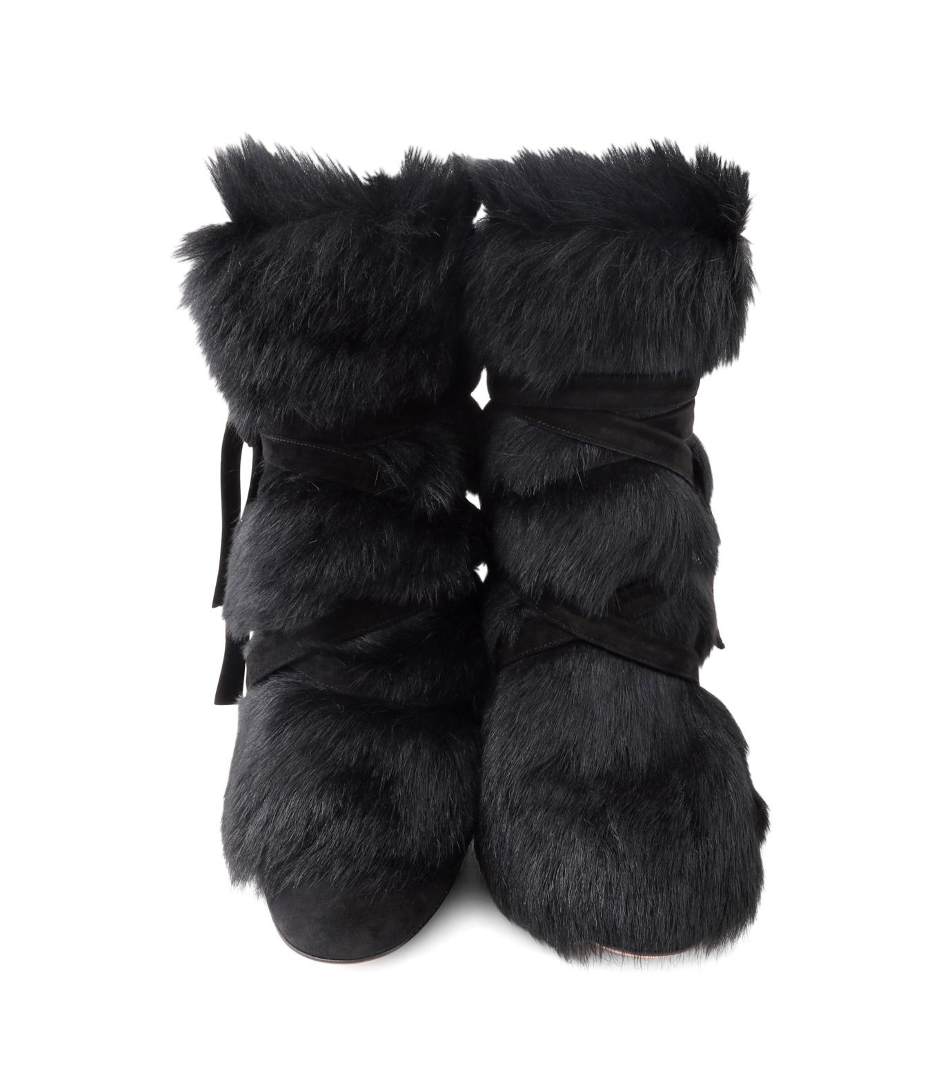 Gianvito Rossi(ジャンヴィト ロッシ)のShort Boots w/Goat Fur-BLACK(ブーツ/boots)-70469-13 拡大詳細画像4