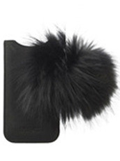 IPHORIA LEATHER&RACOON FUR for iPhone5/5s