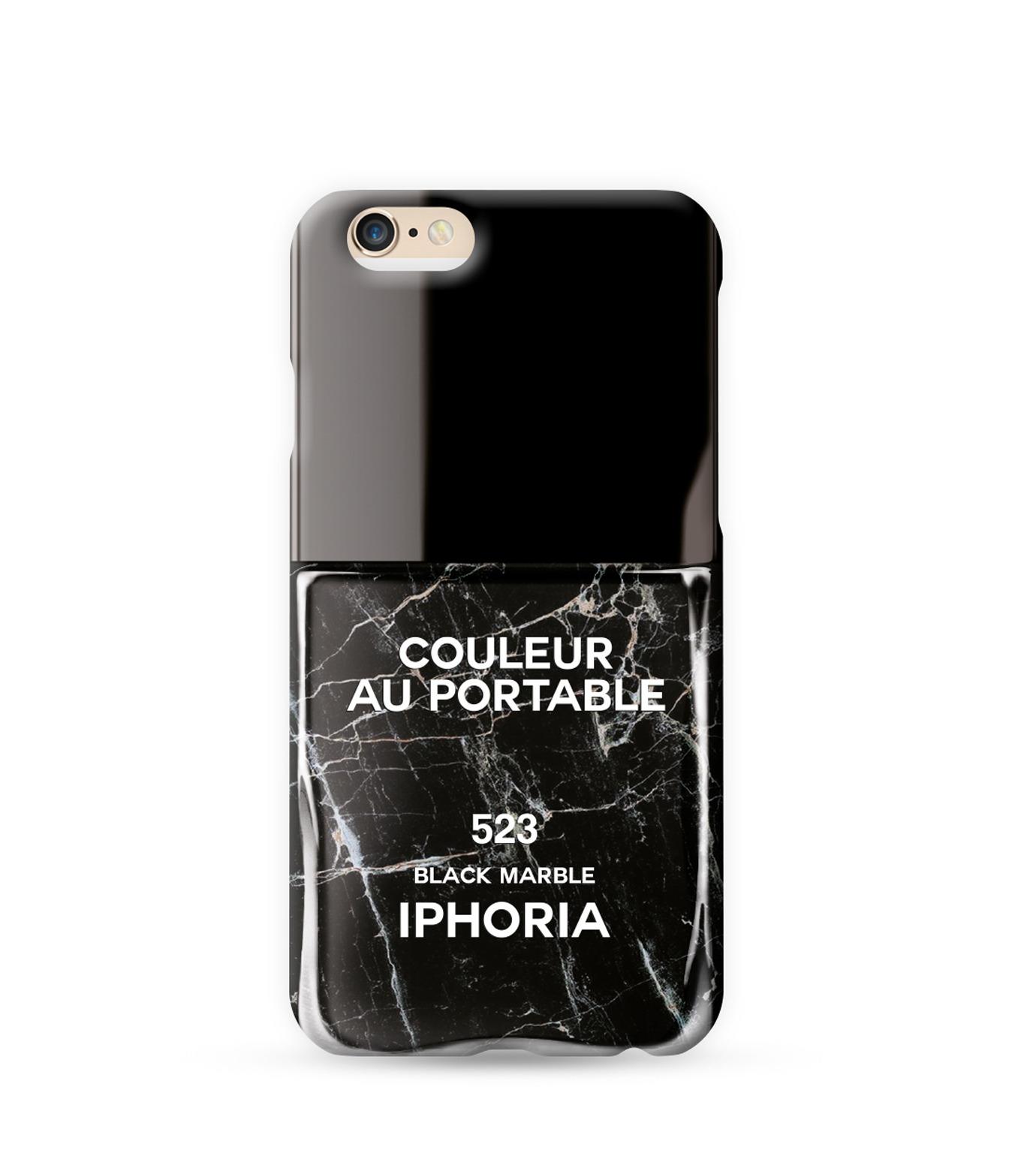 IPHORIA(アイフォリア)のBLACK MARBLE 6/6s-BLACK(ケースiphone6/6s/case iphone6/6s)-81037-13 拡大詳細画像1