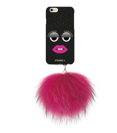 IPHORIA(アイフォリア)のMONSTER-BLK SNAKE PINK POM for6-BLACK(ケースiphone6/6s/case iphone6/6s)-81451-13 詳細画像1