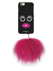 IPHORIA MONSTER-BLK SNAKE PINK POM for6