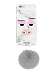IPHORIA(アイフォリア) MONSTER COOL MARBLE WITH POM for 7