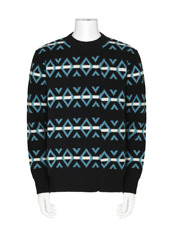 RAF SIMONS Border Pattern Knit