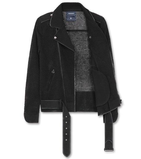 Miharayasuhiro(ミハラヤスヒロ)のLinen knit riders jacket-BLACK-9150-3537-13 詳細画像2