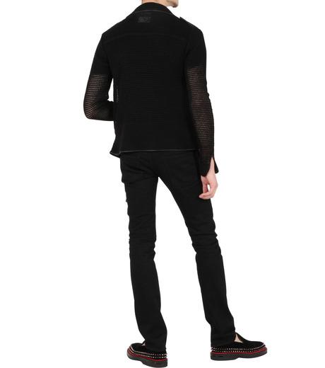 Miharayasuhiro(ミハラヤスヒロ)のLinen knit riders jacket-BLACK-9150-3537-13 詳細画像4