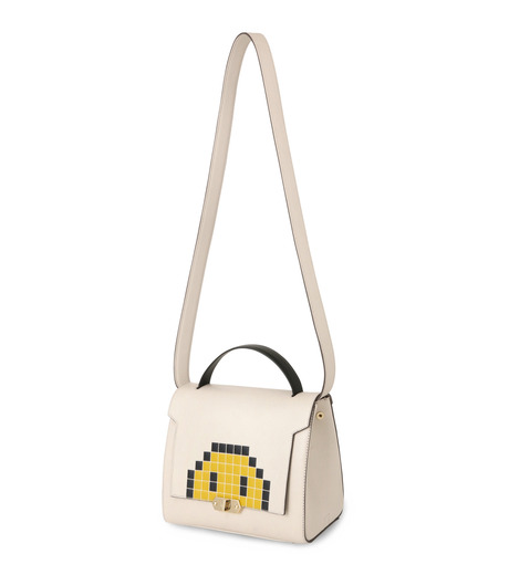 Anya Hindmarch(アニヤハインドマーチ)のBathurst Small Satchel Pixel Smiley-WHITE(ハンドバッグ/hand bag)-923248-5 詳細画像2