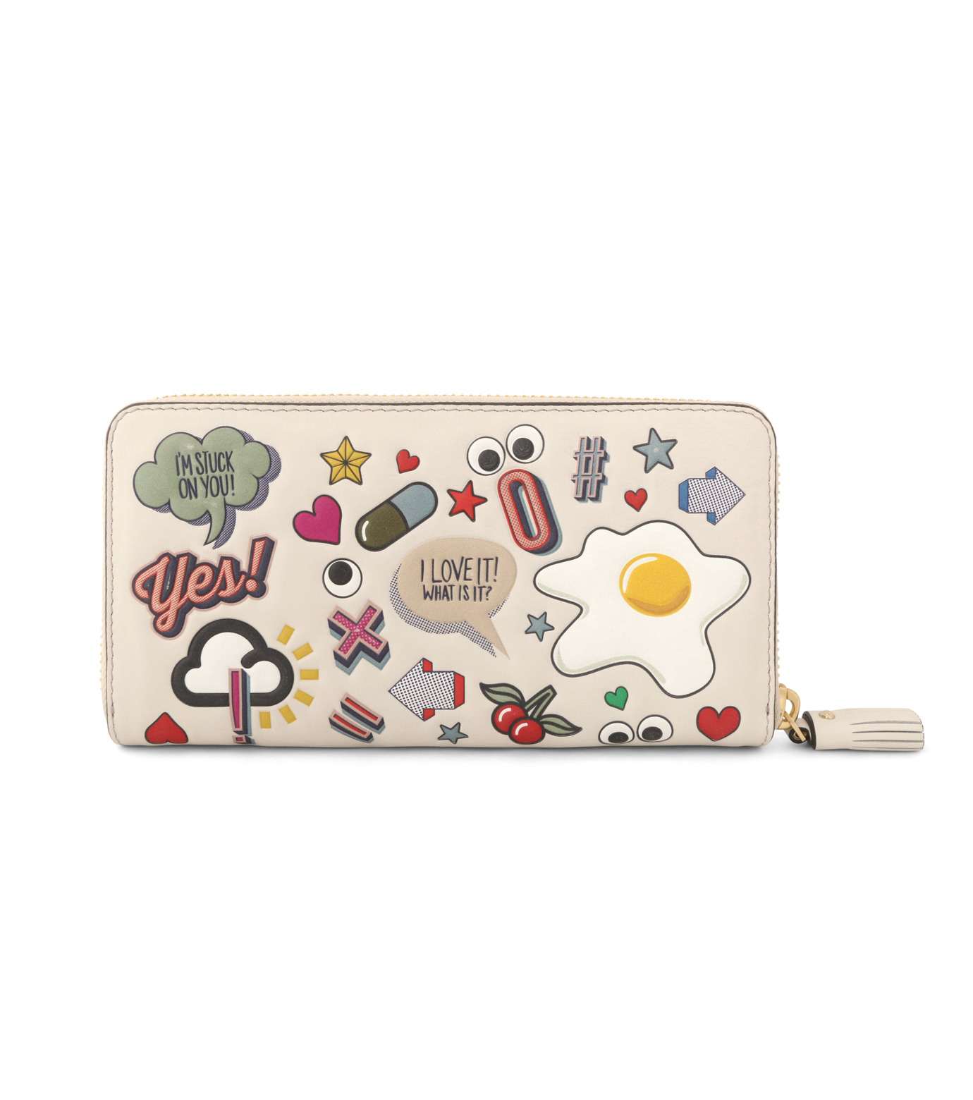 Anya Hindmarch(アニヤハインドマーチ)のLarge Zip Round Wallet All Over Wink-WHITE-924306-5 拡大詳細画像3