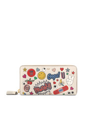 Anya Hindmarch(アニヤハインドマーチ) Large Zip Round Wallet All Over Wink