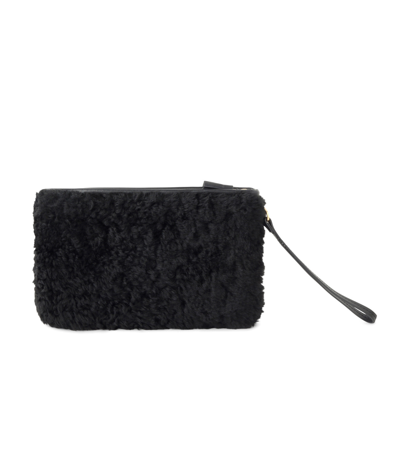 Anya Hindmarch(アニヤハインドマーチ)のZip Top Pouch Ghost Shearling-BLACK-933841-13 拡大詳細画像3
