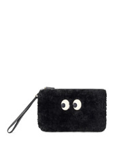 Anya Hindmarch(アニヤハインドマーチ) Zip Top Pouch Ghost Shearling