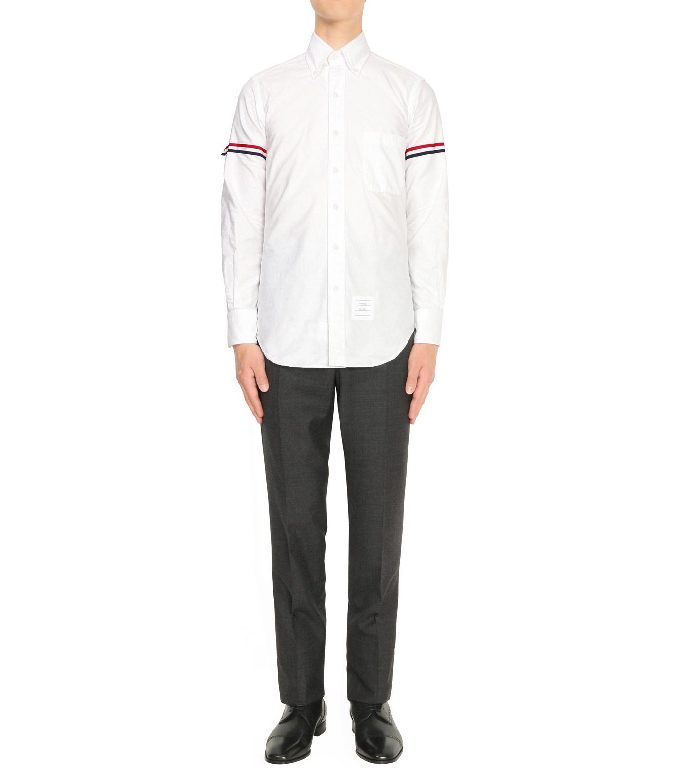 Thom Browne(トムブラウン)のArmband Shirt-WHITE(シャツ/shirt)-A0164A41410-4 拡大詳細画像3