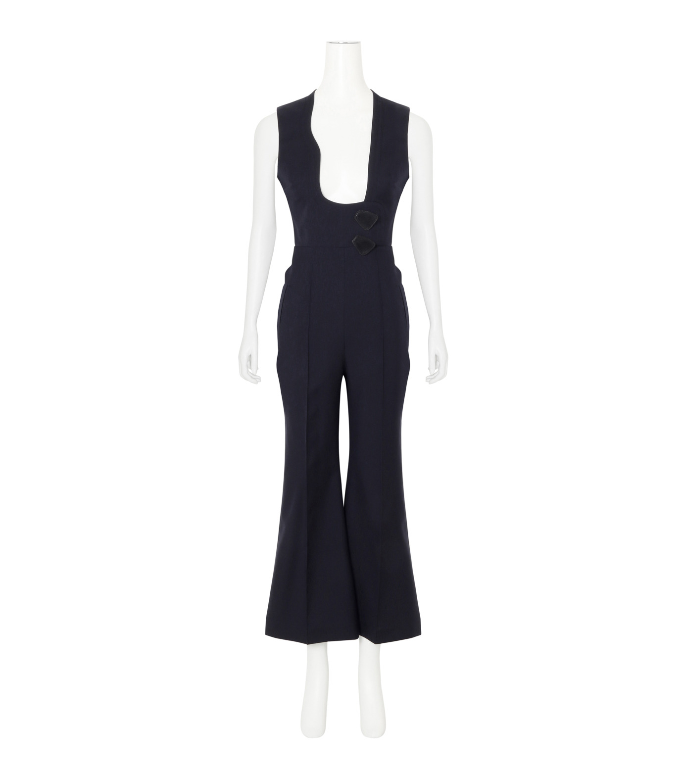 Roksanda(ロクサンダ)のSonia Jumpsuit Flare Leg-NAVY(ワンピース/one piece)-A042-1-93 拡大詳細画像1