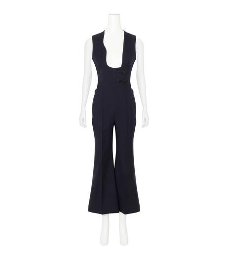 Roksanda(ロクサンダ)のSonia Jumpsuit Flare Leg-NAVY(ワンピース/one piece)-A042-1-93 詳細画像1