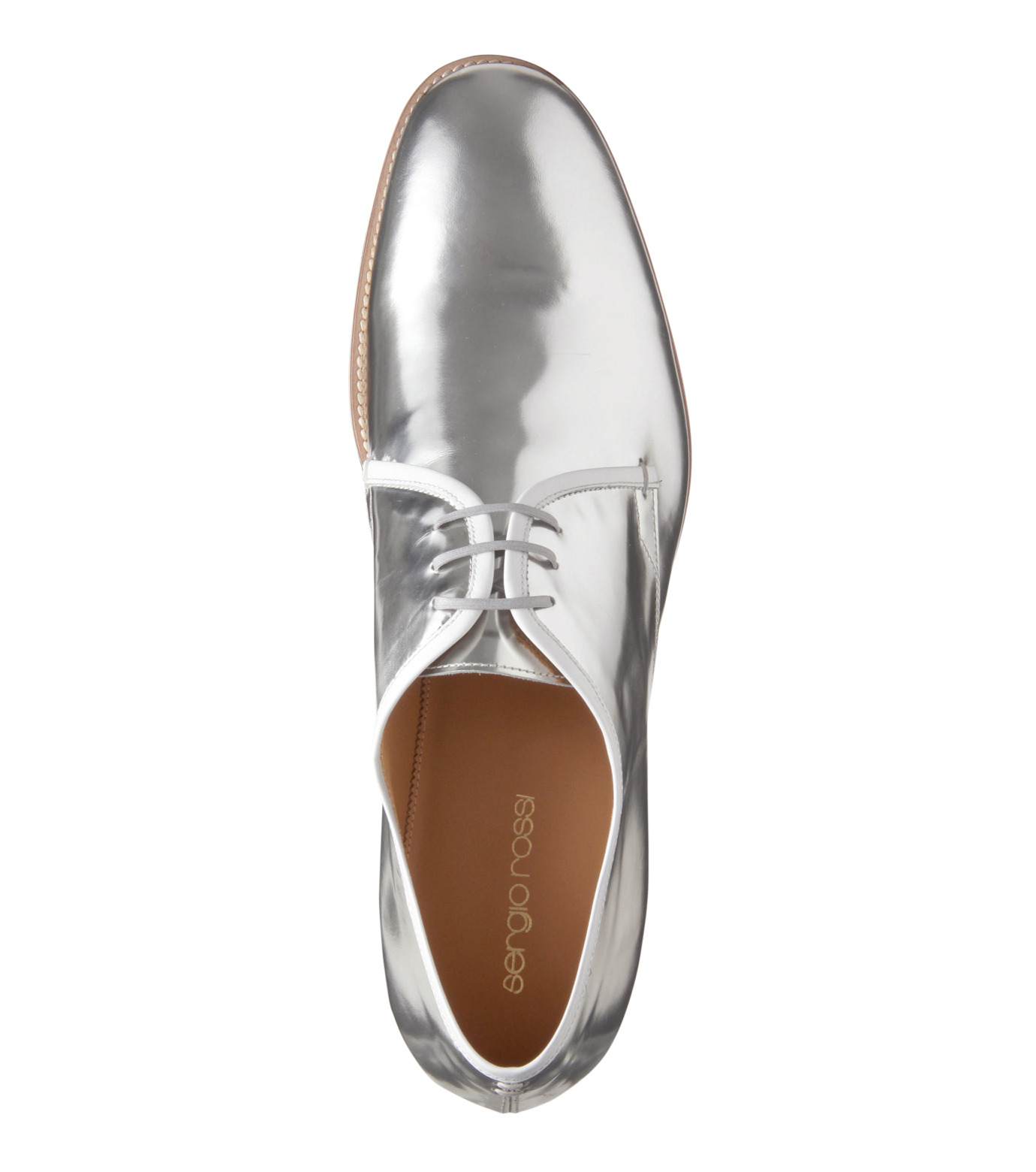 Sergio Rossi(セルジオ ロッシ)のDerby-SILVER(シューズ/shoes)-A61190-1 拡大詳細画像5