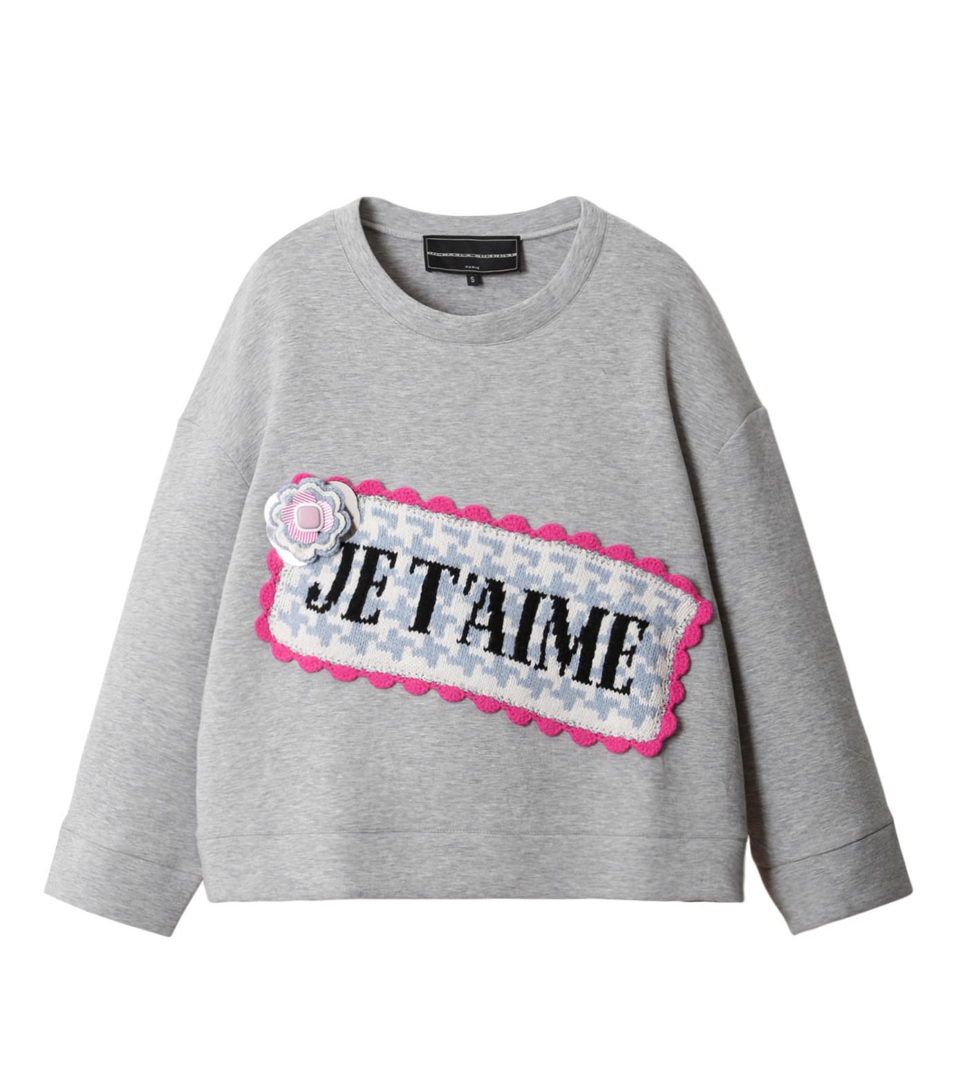Michaela Buerger(ミカエラ バーガー)のJe t'aime Oversize Sweatshirt-GRAY(カットソー/cut and sewn)-AMB027-11 拡大詳細画像1