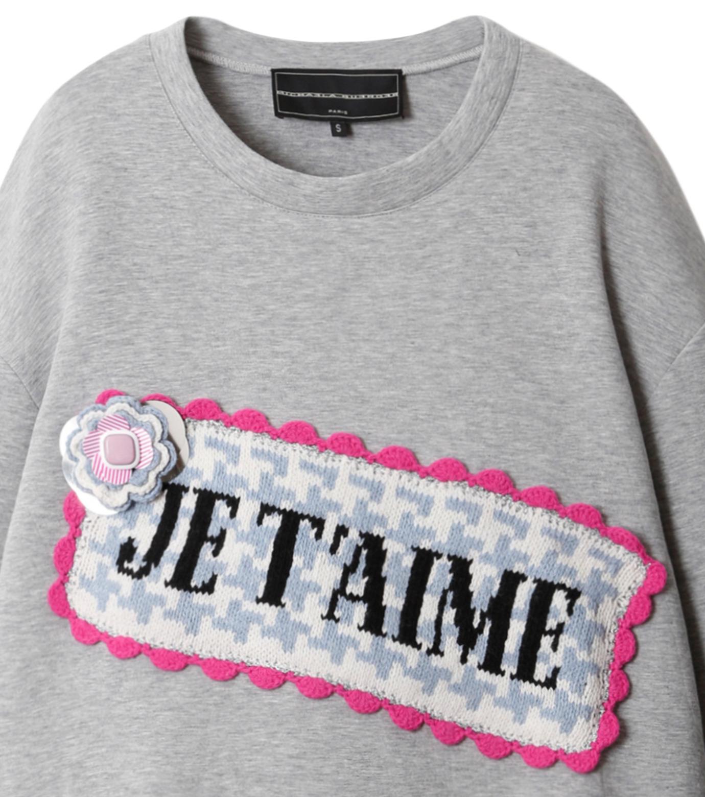 Michaela Buerger(ミカエラ バーガー)のJe t'aime Oversize Sweatshirt-GRAY(カットソー/cut and sewn)-AMB027-11 拡大詳細画像2