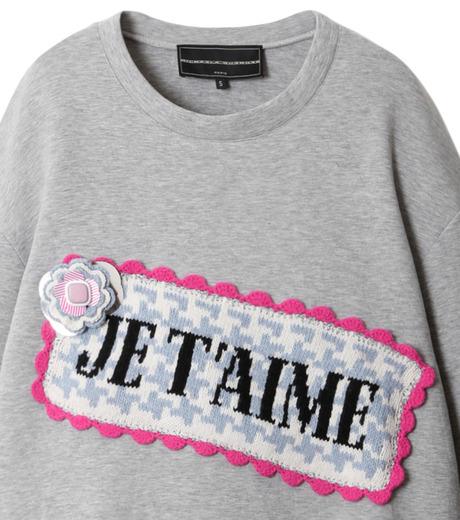 Michaela Buerger(ミカエラ バーガー)のJe t'aime Oversize Sweatshirt-GRAY(カットソー/cut and sewn)-AMB027-11 詳細画像2