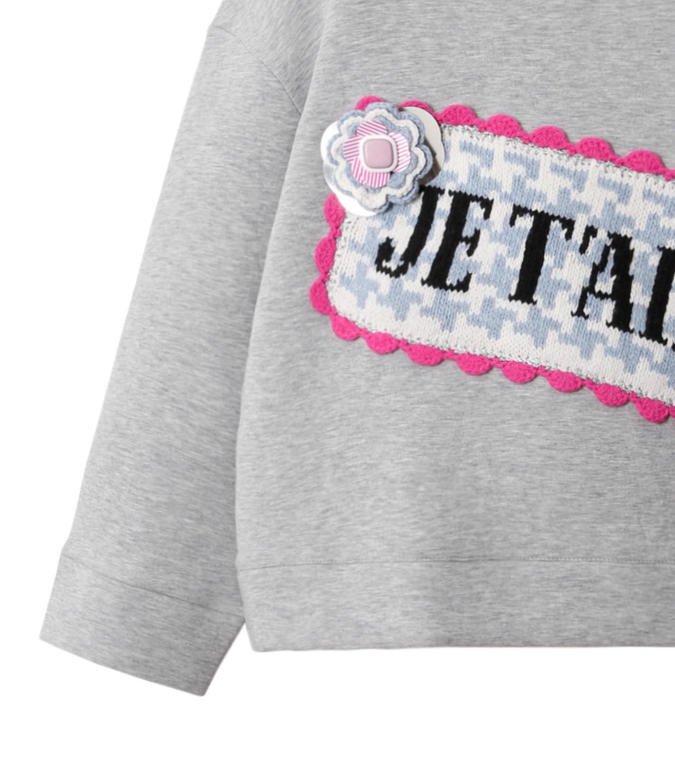 Michaela Buerger(ミカエラ バーガー)のJe t'aime Oversize Sweatshirt-GRAY(カットソー/cut and sewn)-AMB027-11 拡大詳細画像3