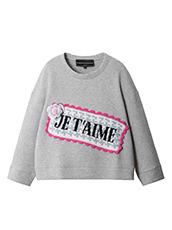 Michaela Buerger Je t'aime Oversize Sweatshirt