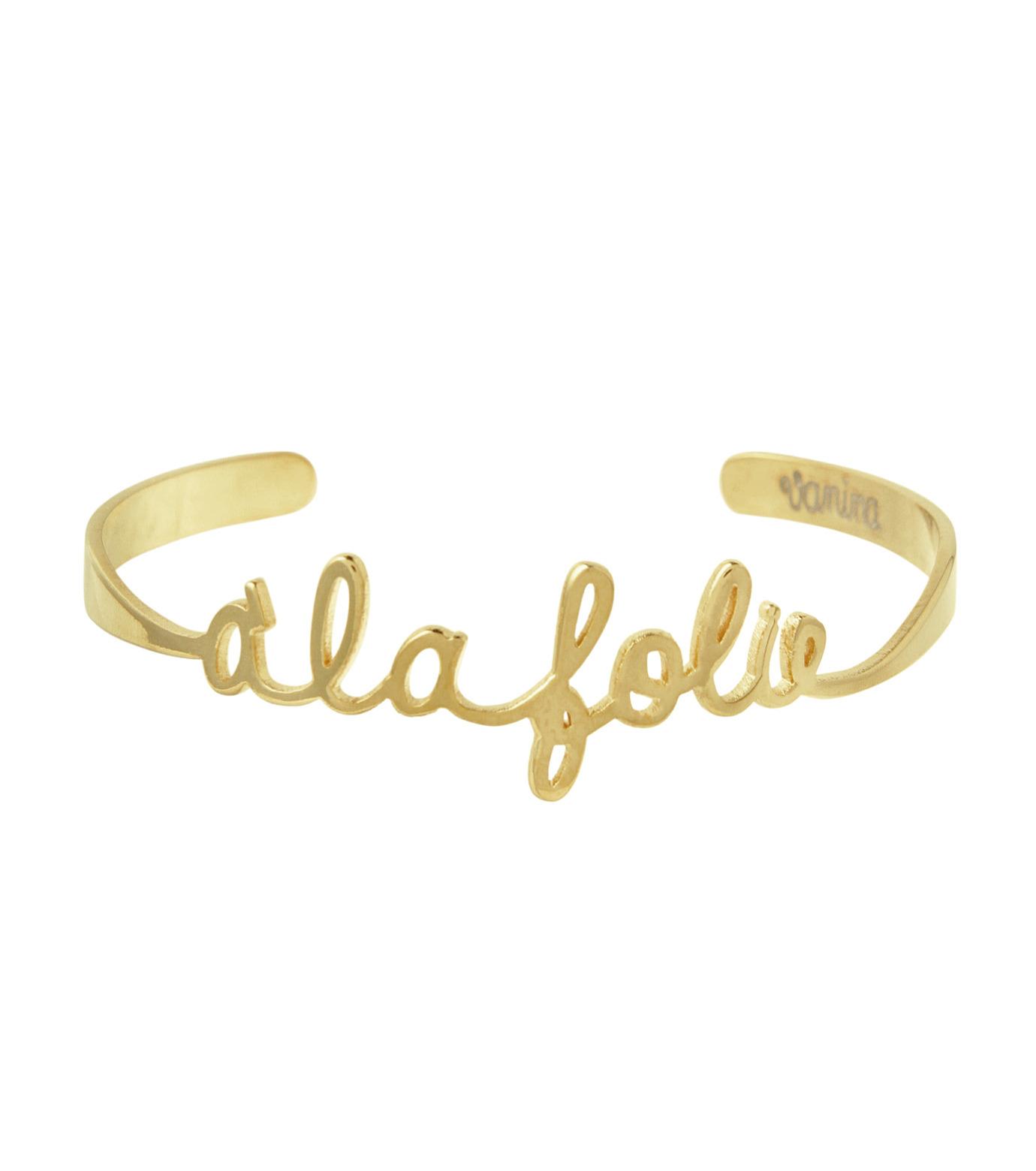 VANINA(バニーナ)のA la folie Bracelet-GOLD(アクセサリー/accessory)-AMOUR-Foli-L 拡大詳細画像1