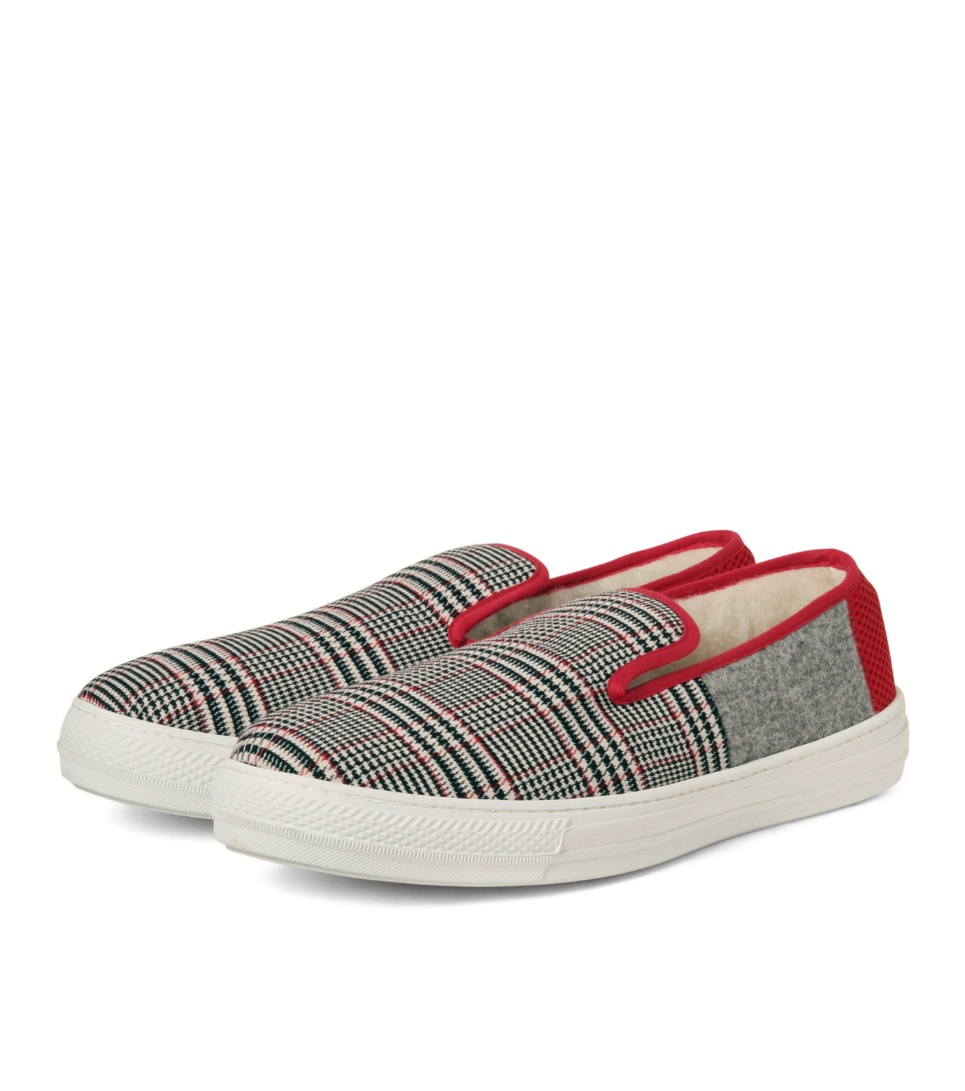 TAISE by SOUSTS(TAISE by SOUSTS)のANATOLE Grey/Red-GRAY(スニーカー/sneaker)-ANATOLE-11 拡大詳細画像4