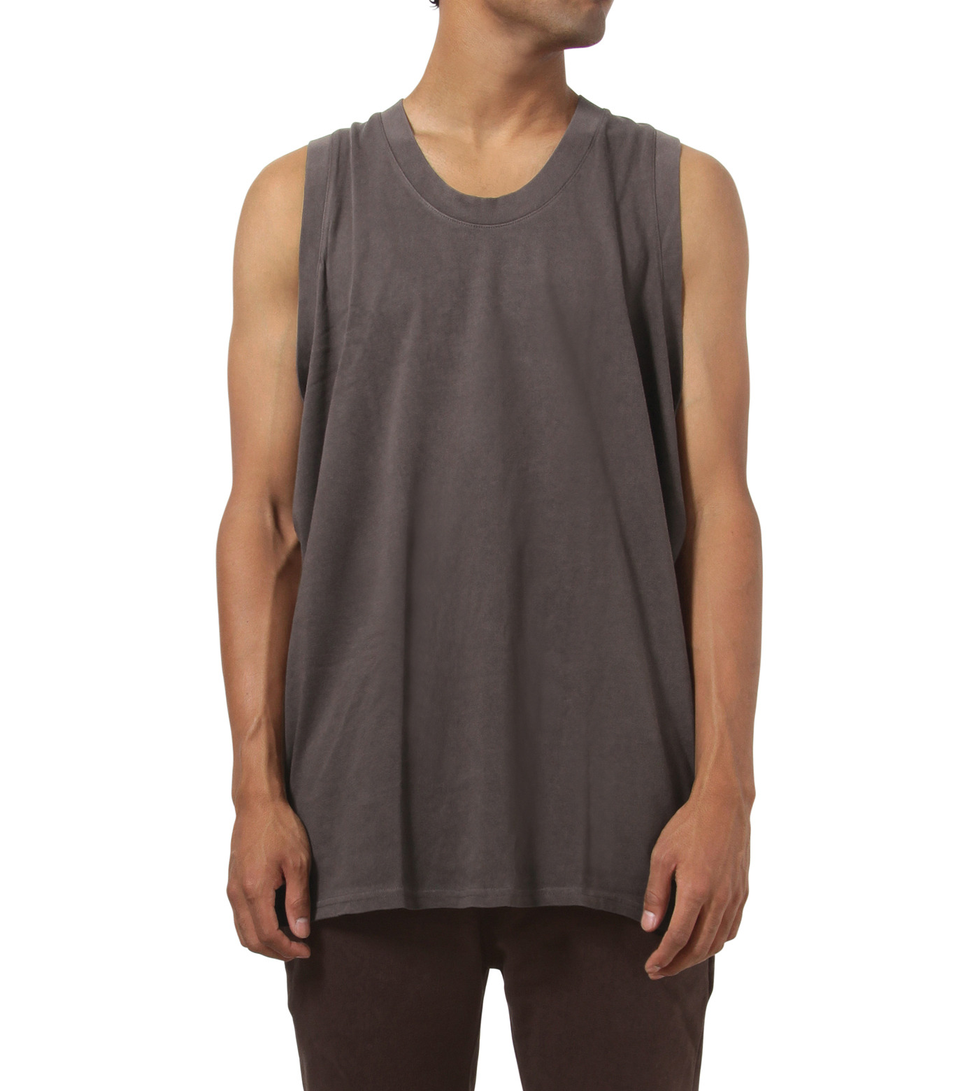 YEEZY adidas(YEEZY adidas)のJersey Tank-BROWN(カットソー/cut and sewn)-AO2609-42 拡大詳細画像1