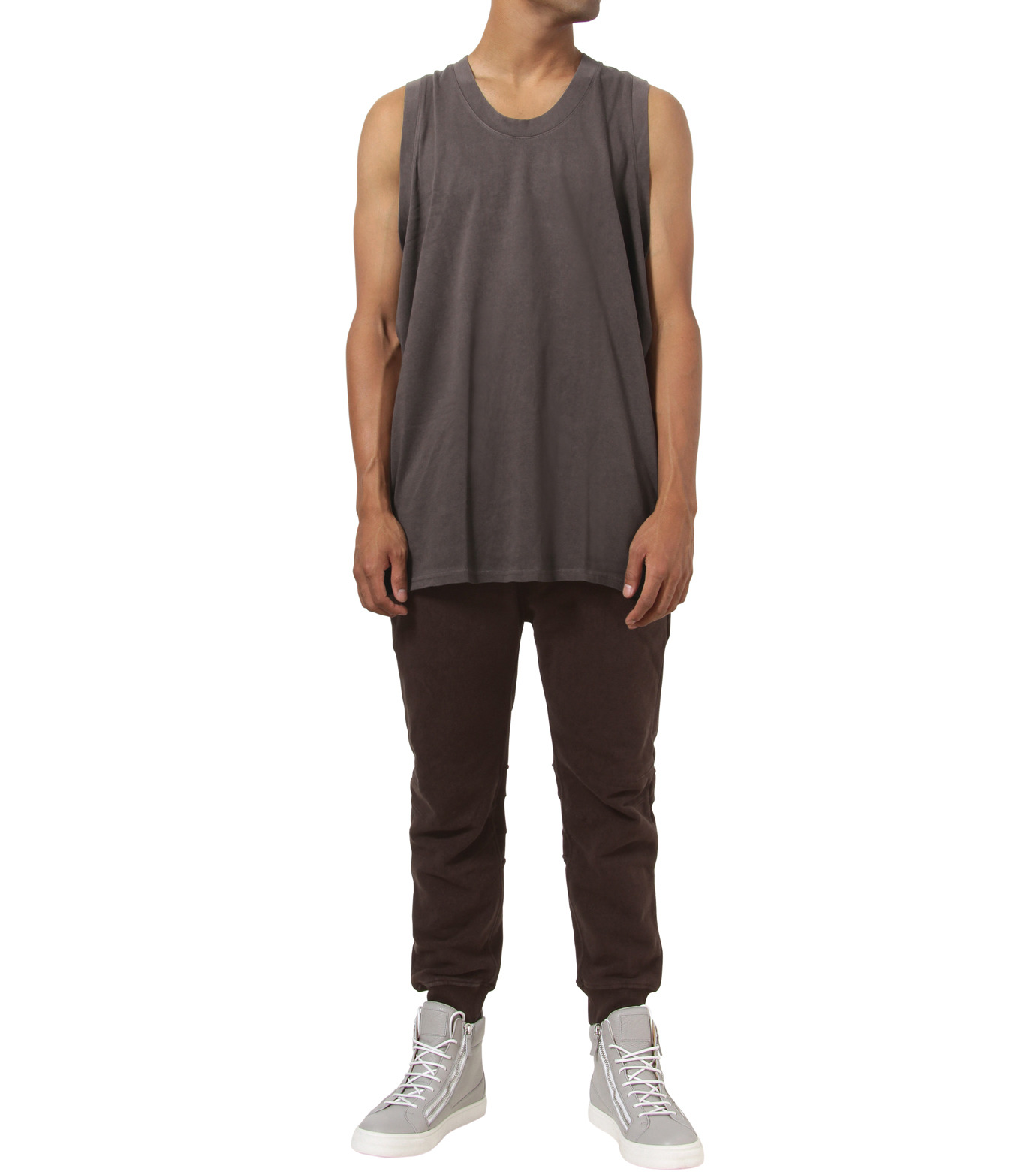 YEEZY adidas(YEEZY adidas)のJersey Tank-BROWN(カットソー/cut and sewn)-AO2609-42 拡大詳細画像3