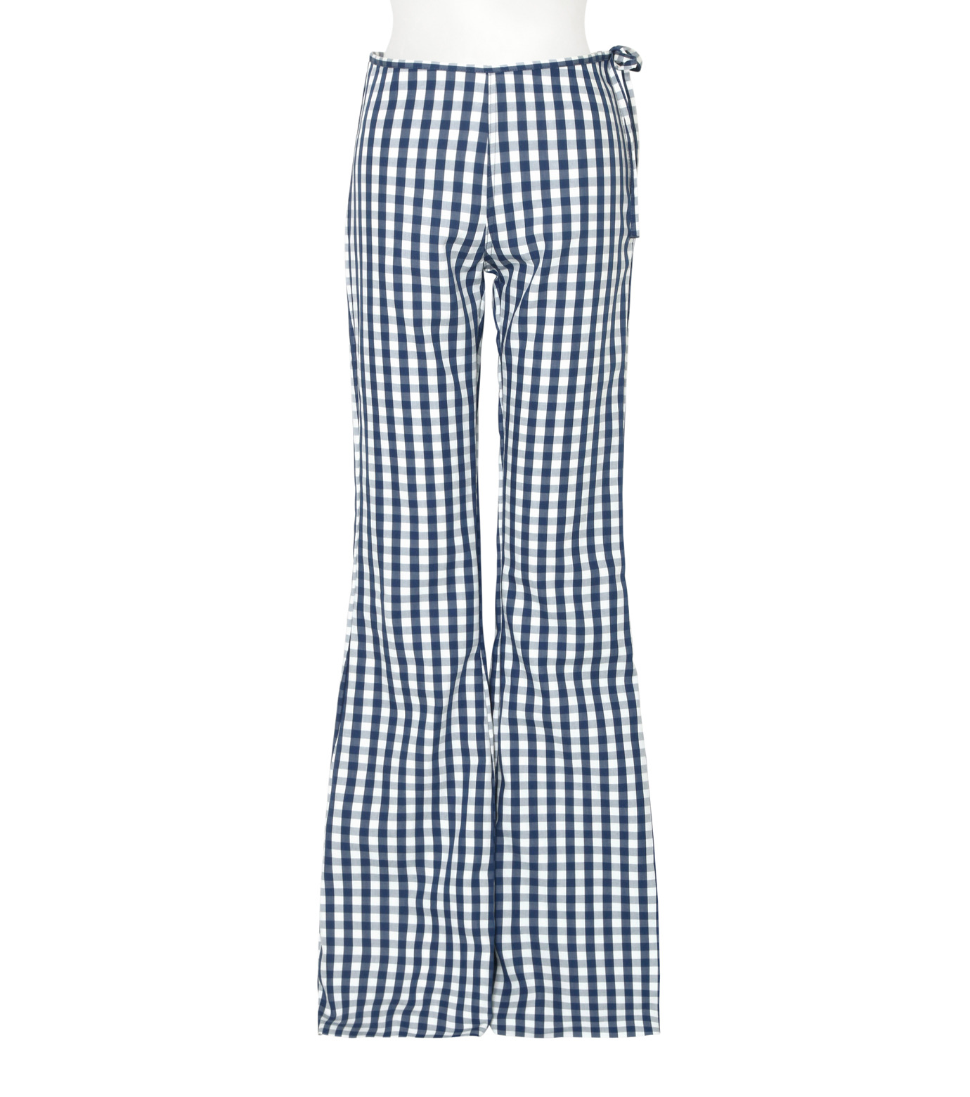 Marques Almeida(マルケスアルメイダ)のBonded Bootcut Trousers-BLUE(パンツ/pants)-AW16-043-92 拡大詳細画像1