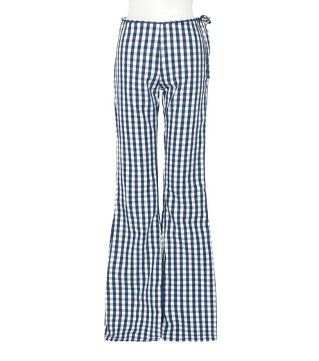 Marques Almeida(マルケスアルメイダ)のBonded Bootcut Trousers-BLUE(パンツ/pants)-AW16-043-92 詳細画像1