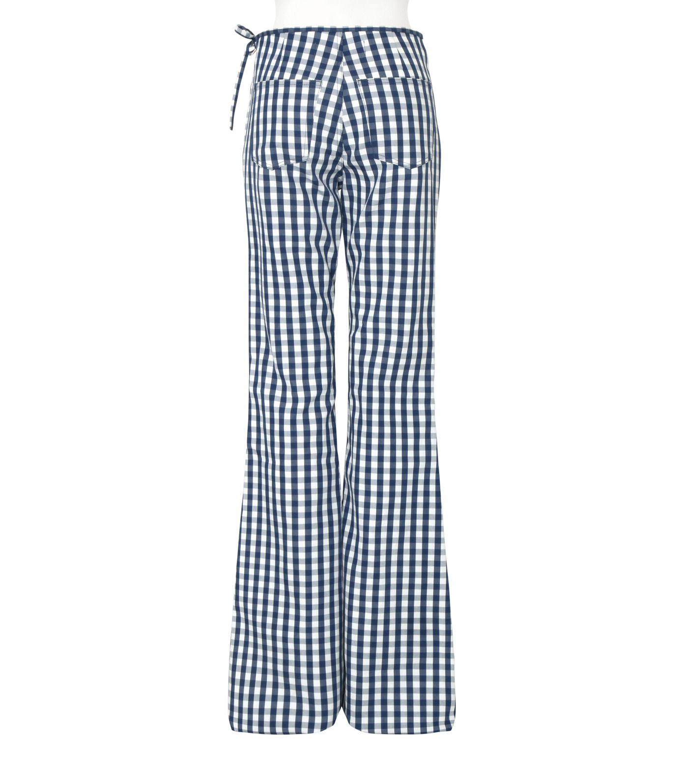 Marques Almeida(マルケスアルメイダ)のBonded Bootcut Trousers-BLUE(パンツ/pants)-AW16-043-92 拡大詳細画像2