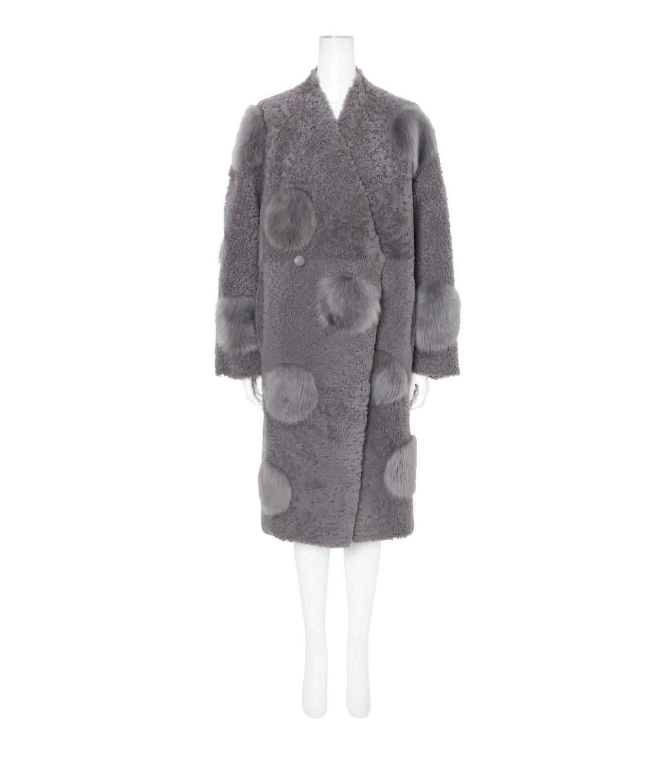 ANNE VEST(アンベスト)のLayla Coat w/Dots Reversible-GRAY-AW160121005-11 拡大詳細画像1