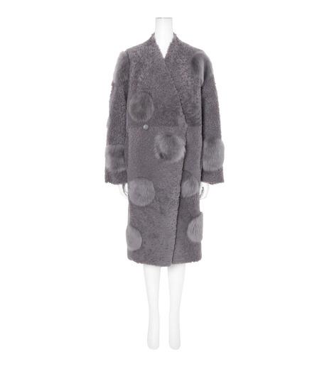 ANNE VEST(アンベスト)のLayla Coat w/Dots Reversible-GRAY-AW160121005-11 詳細画像1
