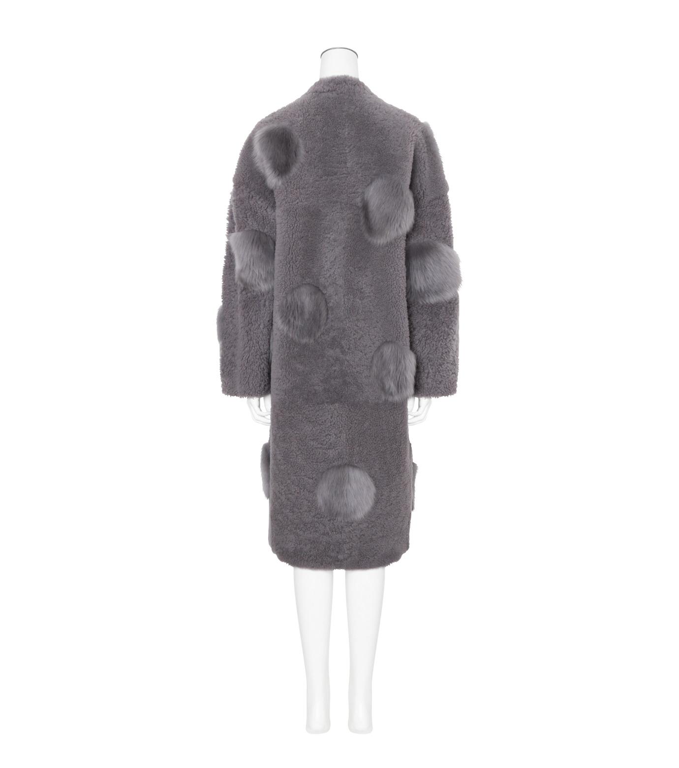 ANNE VEST(アンベスト)のLayla Coat w/Dots Reversible-GRAY-AW160121005-11 拡大詳細画像2