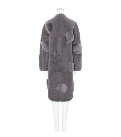 ANNE VEST(アンベスト)のLayla Coat w/Dots Reversible-GRAY-AW160121005-11 詳細画像2