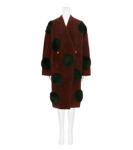 ANNE VEST(アンベスト)のLayla Coat w/Dots Reversible-BORDEAUX-AW160121017-63 詳細画像1