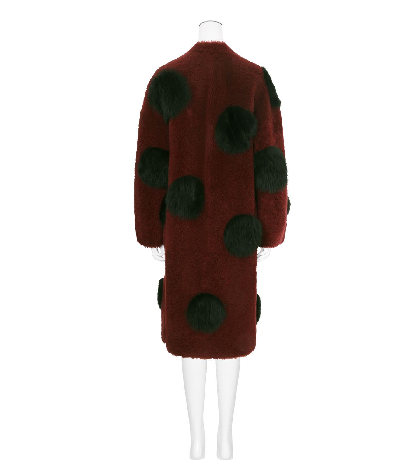 ANNE VEST(アンベスト)のLayla Coat w/Dots Reversible-BORDEAUX-AW160121017-63 拡大詳細画像2